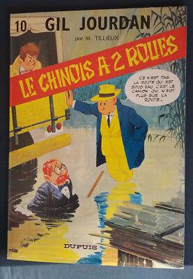 Gil Jourdan 10 reed Le Chinois à 2 roues Tillieux Dupuis