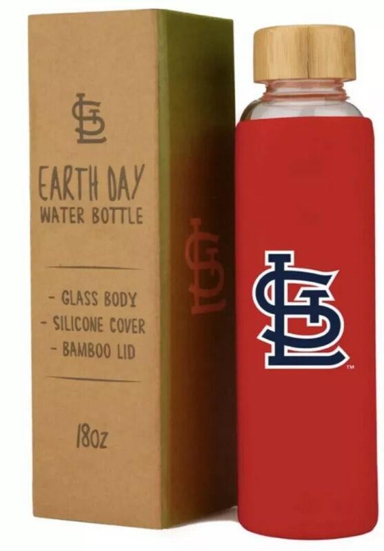 St Louis Cardinals Earth Day Water Bottle 18oz SGA New Free Shipping