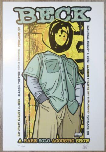 2002 Beck - Portland Aladdin Theatre Litho Concert Poster s/n by Gregg Gordon