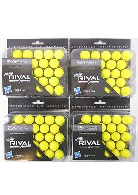 100x GENUINE NERF RIVAL Refill Pack Round Yellow Precision Power Bullet Balls