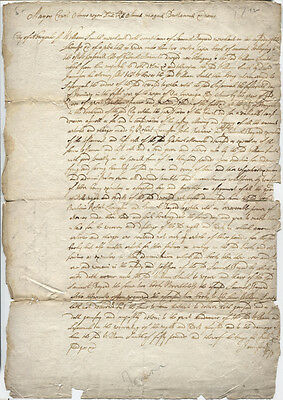 1710 COURT DOCUMENT BY DAVID JAMISON.NEW YORK CITY WILLIAM SMITH VS SAM BAYARD
