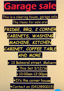 GARAGE SALE Malvern Unley Area Preview