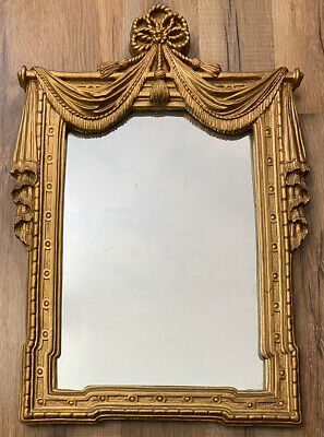 Black French Ornate Wall Mirror Resin Style Dressing Mirror Large mirror 49 X 69