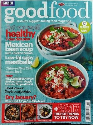 BBC Good Food Jan 2017 Eat Yourself Healthy 7 Day Diet Plan FREE SHIPPING