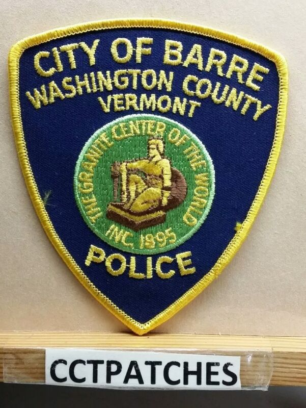 CITY OF BARRE, VERMONT POLICE SHOULDER PATCH VT