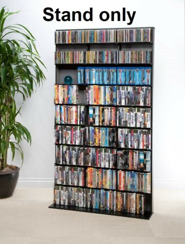 LG 9 Shelf DVD CD Storage Media Tower Video Rack Unit Office Home Movie Cabinet