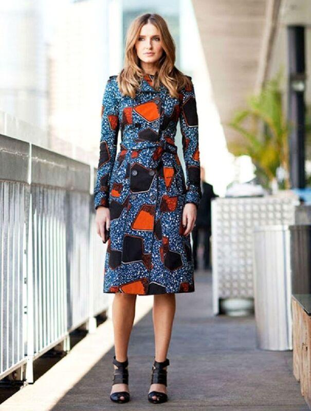 $2,995 Runway Burberry Prorsum 4 38 Eclectic Print Multi Color Trench Coat Women