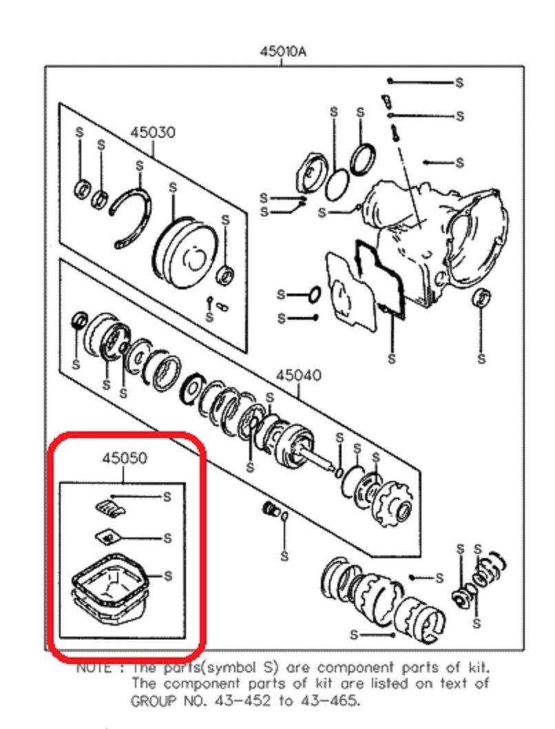 Transmission Filter Kit GENUINE HYUNDAI 45050-28A000 1995