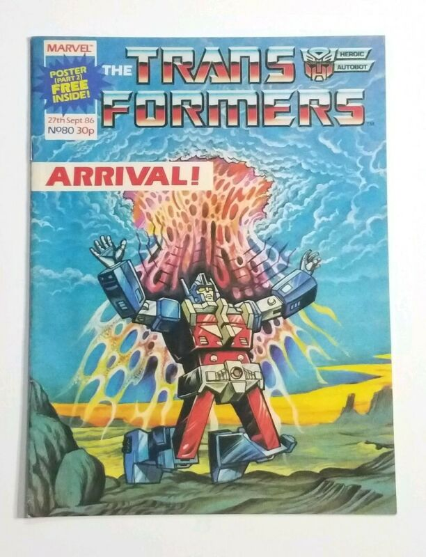Transformers UK #80 with Rare Poster Inside!!