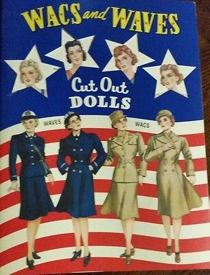 WACS AND WAVES Paper Doll Book Shackman EBAY BEST PRICE!  MINT Condition