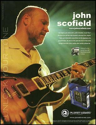 John Scofield Ibanez AS200 Planet Waves guitar cables ad 8 x 11 advertisement for sale  Flint
