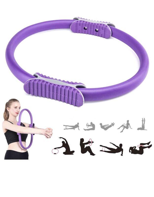 Portable Pilates Circle 15.7 inch Dual Grip Handles Pilates Resistance Ring