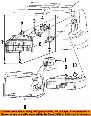 FORD OEM 92-97 F-250-Headlight-Head light Headlamp Assy Right F2TZ13008A