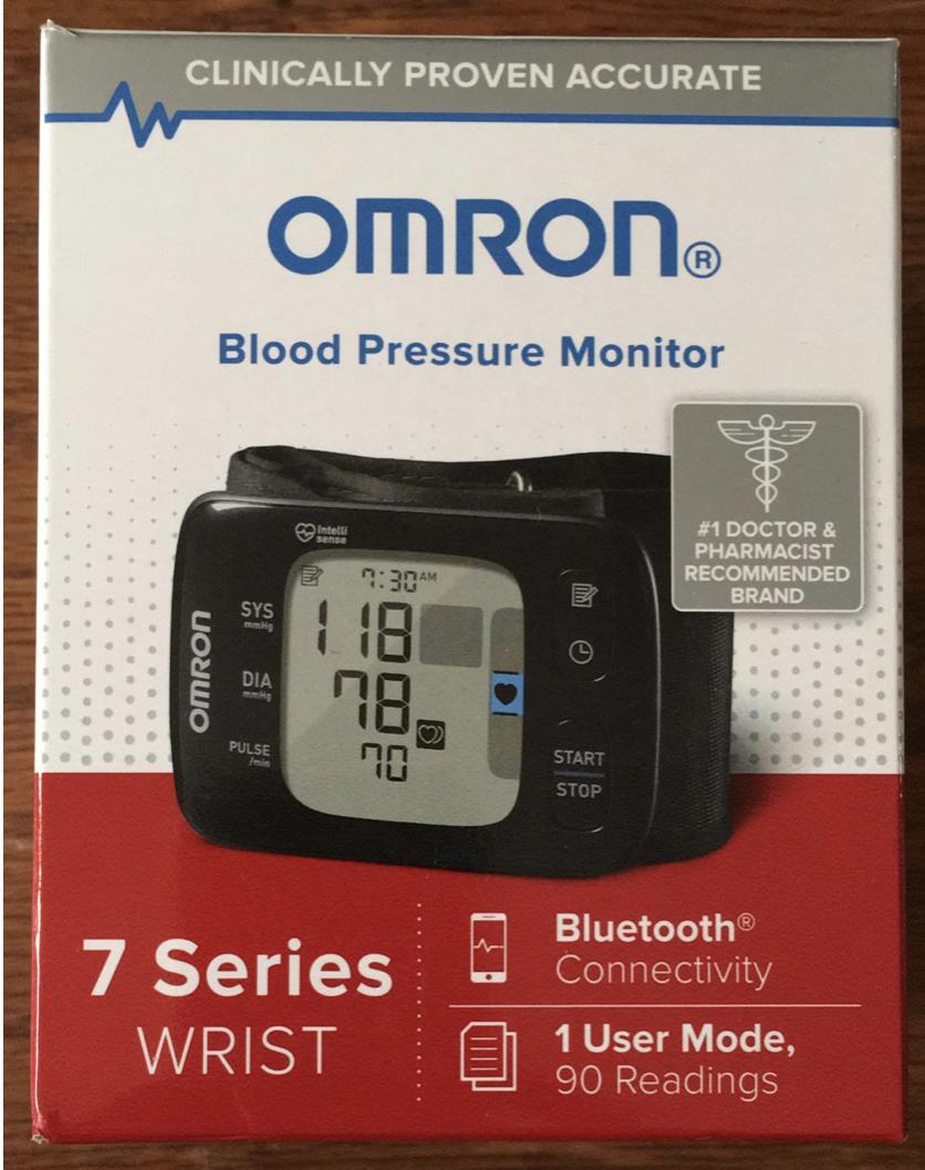 Omron BP6350 Series 7 Wireless Wrist Blood Pressure Monitor