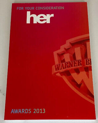 FOR YOUR CONSIDERATION: HER - SPECIALLY PRODUCED SCREENPLAY BY SPIKE JONZE