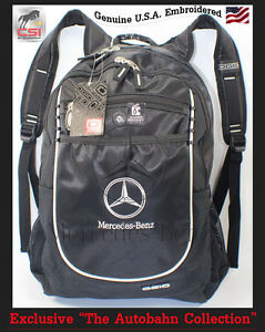 "Mercedes Benz Ogio Embroidered Backpack 1,700cu."" 'The Autobahn Collection'"