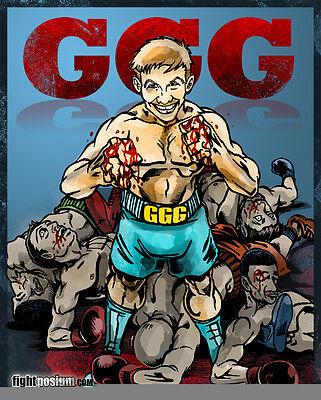Ggg Gennady Golovkin Custom Artwork Oldskool Full Front Of Shirt  Many Options
