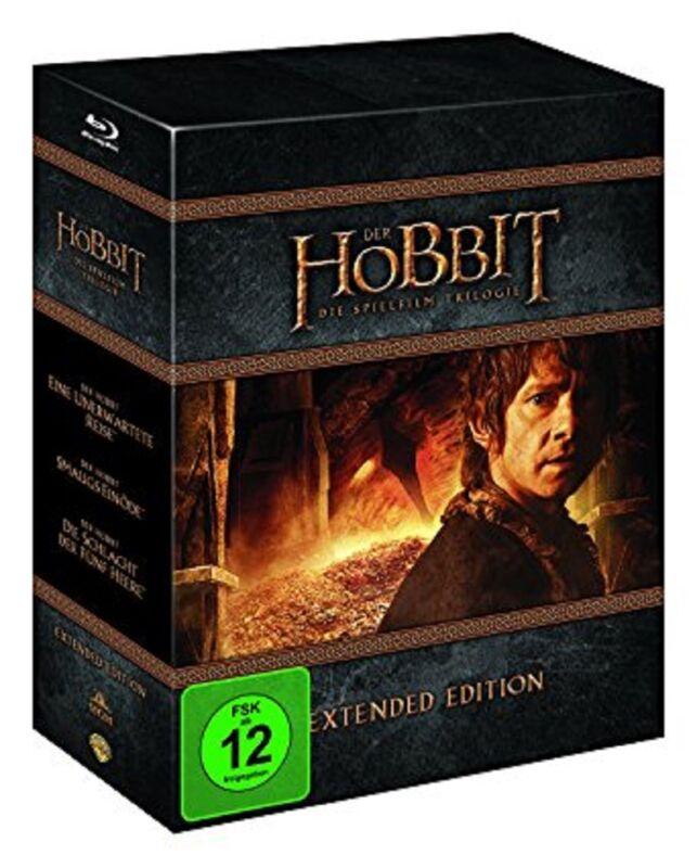 Der Hobbit Blu-ray Box - Komplettbox Die Spielfilm-Trilogie Extended Edition NEU