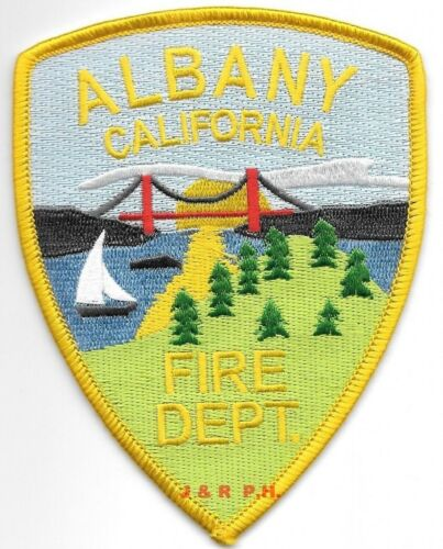 """Albany  Fire Dept., California  (3.5"""" x 4.5"""" size) fire patch"""