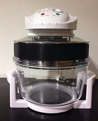 12 Litre Premium Halogen Convection Oven Cooker + Extender Ring ( WHITE)