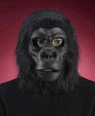 Black Gorilla Mask Animal Ape Monkey Fancy Dress Up Halloween Costume Accessory