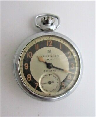 INGERSOLL TRIUMPH POCKET WATCH - PERFECT WORKING ORDER!