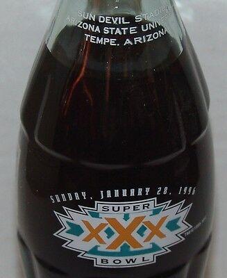 1996 Coke Coca Cola Nfl Superbowl Xxx Tempe Arizona Sun Devil Stadium 8Oz Bottle
