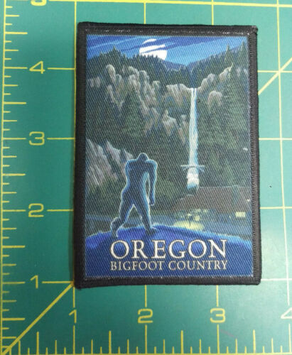 Oregon Bigfoot Country Patch by Lantern Press - Multnomah Falls - Iron on kit
