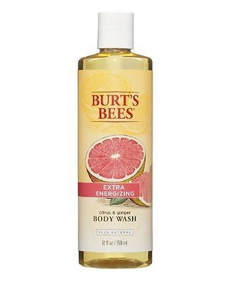 Burts Bees Extra Energizing Body Wash Citrus   Ginger Root 12 Oz  Pack Of 9