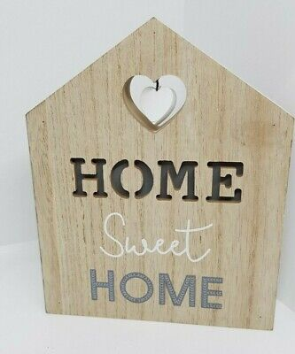 FAMILY HOME SWEET HOME FREESTANDING HANGING HEARTS PLAQUES SIGNS - HOME DECOR