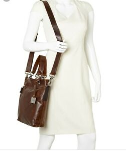 RUDSAK COHIBA RUMA Brown Leather Shoulder Purse