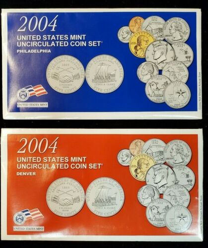 2004 United States Mint Set Gem BU Uncirculated Coin 20pc Philadelphia & Denver