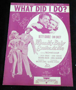 WHAT-DID-I-DO-from-20th-Century-Fox-When-My-Baby-Smiles-At-Me-1947-Sheet-Music