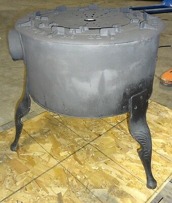 Old Fashioned Cast Iron Brick Lined N.gas Ekco Stove With Jet Ring Burners