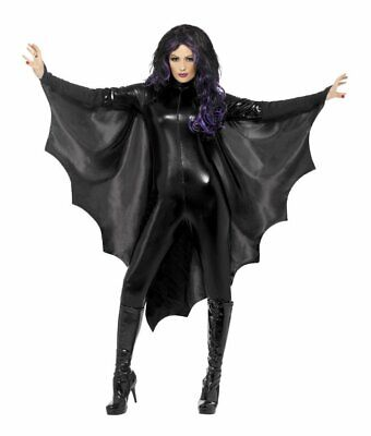 Black Vampire Bat Wings Vampiress Unisex Adult HAlloween Costume Accessory](Costume Bat Wings)