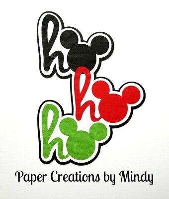 CRAFTECAFE MINDY DISNEY CHRISTMAS DIE CUT premade paper piecing TITLE scrapbook