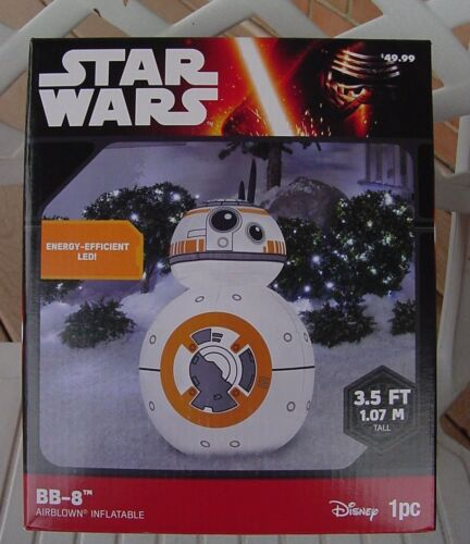Disney Star Wars Bb-8 Droid Christmas Inflatable Led Gemmy 3 1/2 Ft Tall
