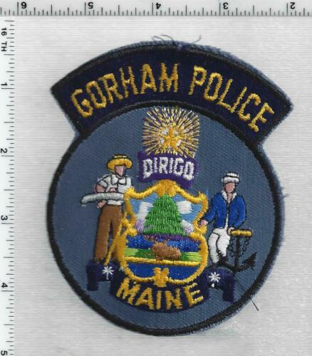 Gorham Police (Maine) 2nd Issue Uniform Take-Off Shoulder Patch