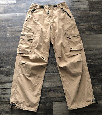 Abercrombie and Fitch Paratroops Cargo Pants Men's Small Khaki 30 X 32