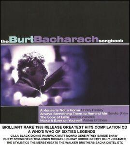 Burt Bacharach - Very Best Greatest Hits CD Cilla Black Matt Monro Gene Pitney