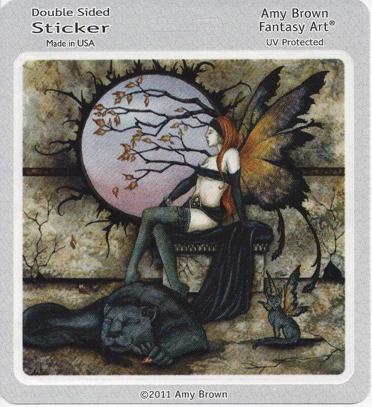 MAJESTIC FAERY Fairy Sticker Car Decal Amy Brown goth gothic pagan faerie