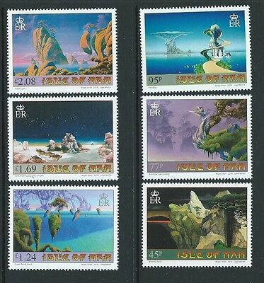 ISLE OF MAN 2016 ROGER DEAN ARTIST. SET OF 6 UNMOUNTED MINT, MNH