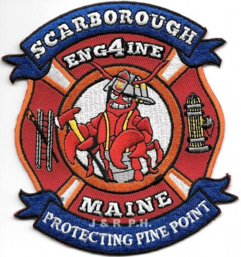"""Scarborough Engine - 4  Protecting Pine Point, Maine (4"""" x 4.5"""" size) fire patch"""