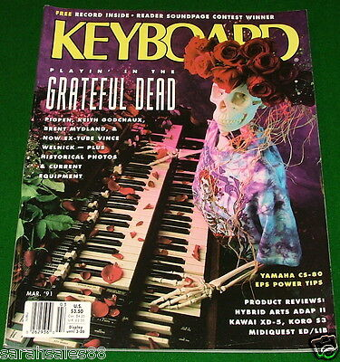 Used, GRATEFUL DEAD, Yamaha CS-80 Ensoniq EPS Tips 1991 KEYBOARD Magazine w- Soundpage for sale  Canada