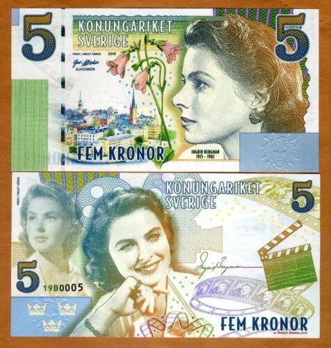 Sweden, 5 Kronor, Private Issue Essay, 2019 > Ingrid Bergman