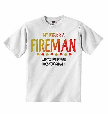 Mein Uncle Is A Feuerwehrmann What Super Power Does Yours Have? T-shirt T-shirts