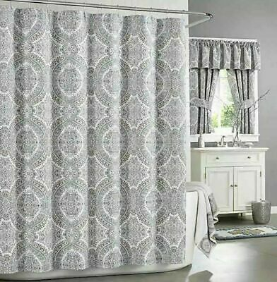 "NEW J. Queen New York COLETTE BLUE Shower Curtain Ornate Medallion  72"" x 72"""