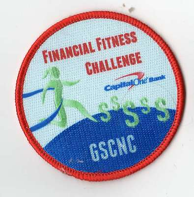 Girl Scout Council Program Patch   Gscnc Financial Fitness Challenge Capital One
