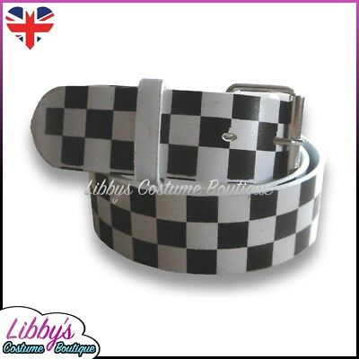 Race Racer Girl Pit Grid Crew Chequered Belt Sexy Fancy Dress Costume Accessory