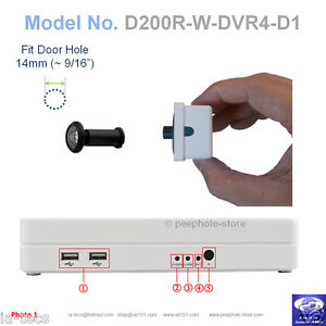 200-Black-Door-PeepHole-Camera-Motion-Detect-DVR-Remote-Smartphone-Viewing